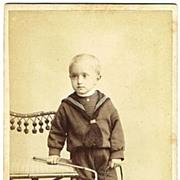 Wilhelm Georg Saxe Altenburg CDV. Hair to the Throne as Baby Boy. 1905