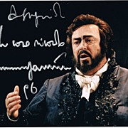Luciano Pavarotti: Authentic Autograph from 1996. CoA