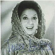 Teresa Berganza Autograph on Photo. CoA