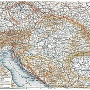 Imperial Austro Hungarian Military Deployment: 2 old Maps