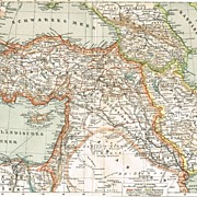 1900: Western Asia: 2 Old Maps