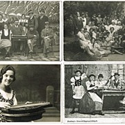 Zither Players. Small lot of vintage Photos and Postcard