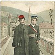 Old Student Postcard. Heidelberg 1903