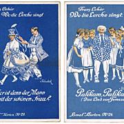 Franz Lehar Operetta, Special Postcards with Sheet Music. 1918