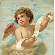 Little Angel: Vintage Name Day Postcard from 1907