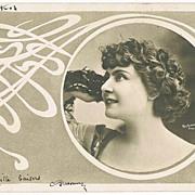 Thlyda. Art Nouveau Postcard, Photo Reutlinger 1904
