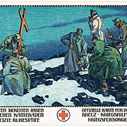SOLD Alfred Offner Postcard with Red Cross Motif World War 1