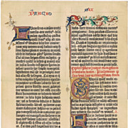 Gutenberg Bilble Facsimile Page from 1898