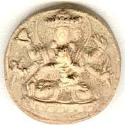 18 – 19th Century: Antique Old Buddhist token, earthenware