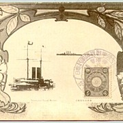 Japan: Triumphal Naval Review: Decorative Postcard