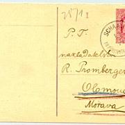 1877: Lichtenstein / Austria: Faked Postcard