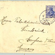 1908: Germany - USA. Letter from S. S. Bremen