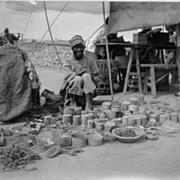 Old China: Original Photo of a Vendor at a Market