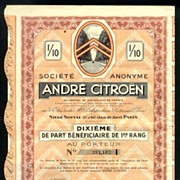 1924: Andre Citroen. Decorative Share