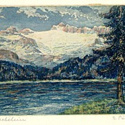 2 fine Steel Prints: Landscapes in Italy and Austria, Artist signed