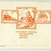 Old Postal Card by Canadian Pacific