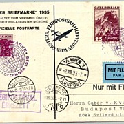 1935: Austria / Hungary. Letter Day Special Flight