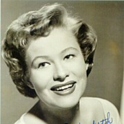 Nancy Olson on b/w Photo. Authentic Nancy Olson Autograph with COA