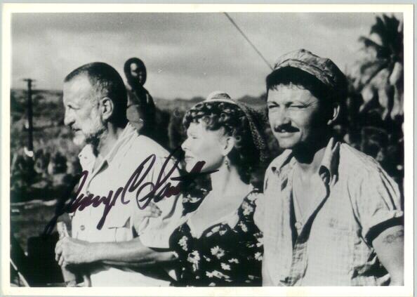 George C. Scott Autograph on Photo with Susan Tyrell. CoA