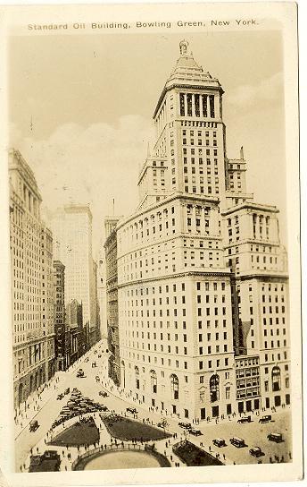 1930: The Standard Oil Building. Photo postcard to Austria