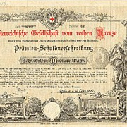 1882 / 1916: Two Red Cross Bonds from Austria