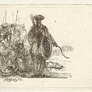 1808: Etching of Turkish soldiers by F. Fischer.