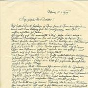 Austrian Art Deco / Jugendstil Artist: Authentic Cossmann letter.