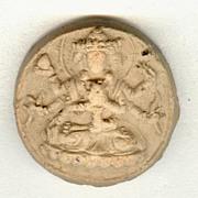 18 – 19th Century: 2 Old Buddhist token, earthenware