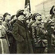 Russian Propaganda Postcard: W. I. Lenin and Y. Sverdlov