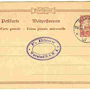 1907: German South West Africa. Warmbad chop on Postcard