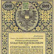 WWI: Decorative Austrian War Bond: Fourth Issue, 5000 Kronen