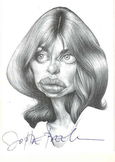 Nastassja Kinski: Autogaph on Photo + Autograph Beek on Kinski Portrait