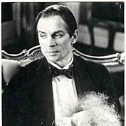 Rudolf Nureyew as Rudolph Valentino in Ken Russells Movie Valentino. b/w Still.