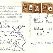 1963: Austria. Dhaula Himal Expedition. Signed by Members