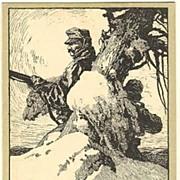 WWI: Advertising Postcard for War Bonds. Litho by Karlinsky. 1918