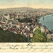 Old Hungary, Budapest: Panorama Postcard from 1903