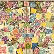 Stamps. Decorative Chromo Lithograph, 1901