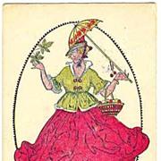 1909: Happy Easter. Art Nouveau Postcard Vienna