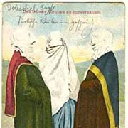 Turkish Ladies, chatting. Vintage Postcard. 1912