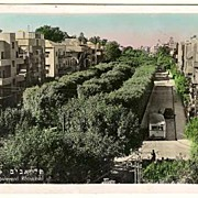 Old Israel, Tel-Aviv: Censored Postcard to Austria