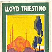 Lloyd Triestino Program from 1930. Decorative.