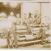 Vintage Photo: Workers at Machinery, ca. 1905