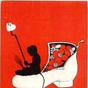 Art Nouveau style Krampus card from Austria