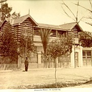 1891: Egypt - Ismailia: Ferdinand de Lesep's House. Albumen Photo