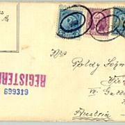 1928, 1932: 2 registered stationery USA to Austria