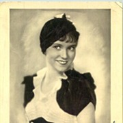 Vintage Photo Dolly Haas with original autograph of this famous actress, incl. COA