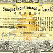 1920: Banque Industrielle de Chine. Most decorative obsolet share