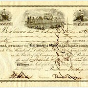1853: The Baltimore and Ohio RR Co. Swann signature! COA included.