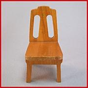 """Strombecker Dollhouse Kitchen Chair - Birch 1936 1"""" Scale"""
