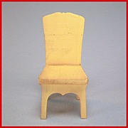 "Strombecker Dollhouse Kitchen Chair - Cream 1931 Large 1"" Scale"